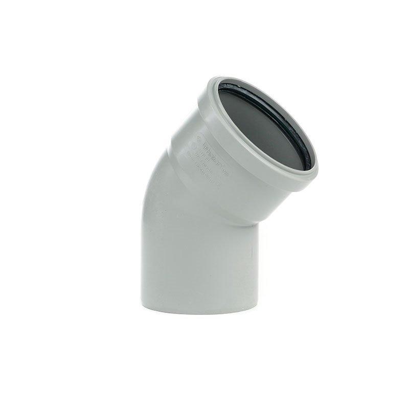 Viemärin kulma 45°/110 mm Harmaa
